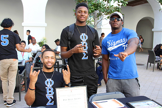 photo: male students tabling at harambee weekend 2017