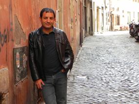 Amara Lakhous in Rome, Italy