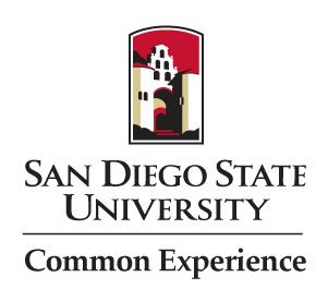 SDSU logo with common experience
