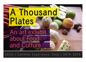 A thousand plates art exhibit about food and culture