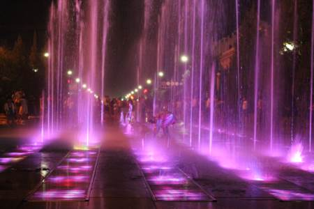 Honorable Mention Night Fountains