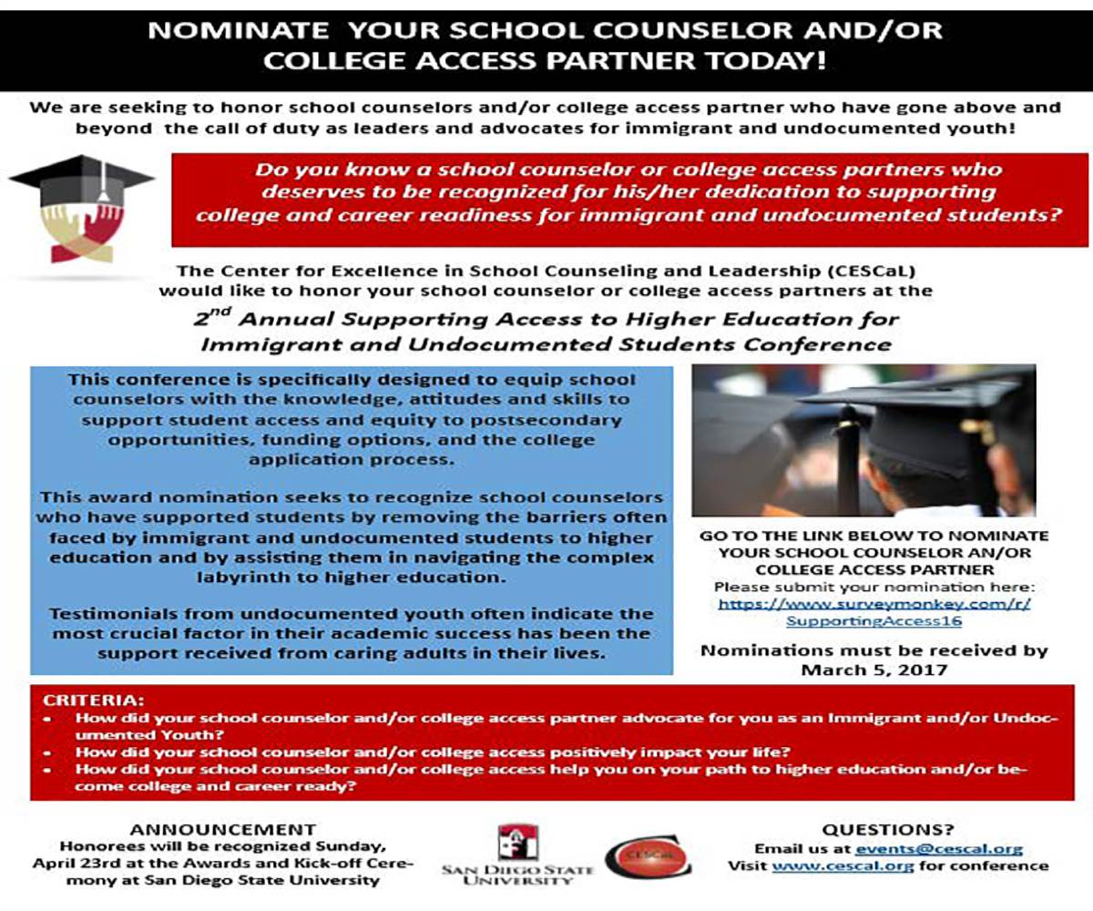 Nominate Flyer