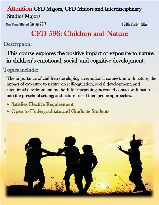 CFD 596 Class: Children and Nature