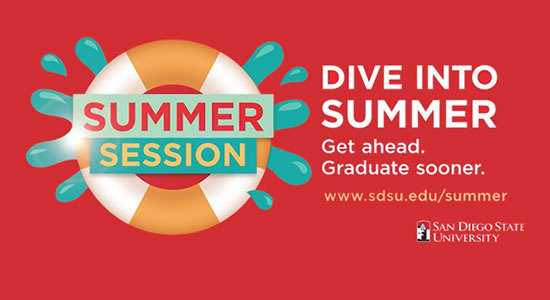 Summer Session. Dive into summer. Get ahead. Graduate sooner.