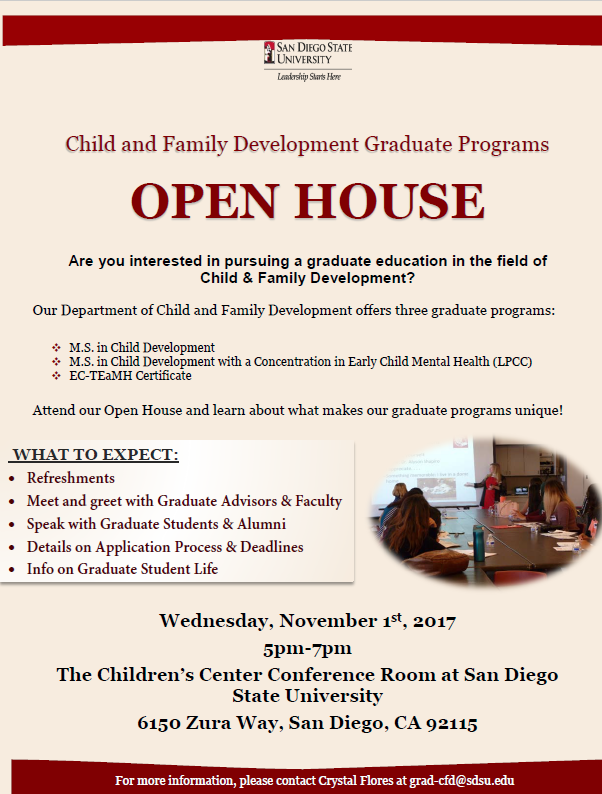 CFD Grad Programs Open House