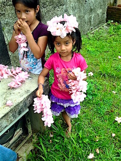 (Photo: The little girls in Chinantla who taught me how to make flower crowns, summer 2015.)