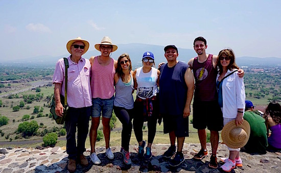 Photo:Photo:  3rd year students with Joaquin & Carol at Teotihuacan