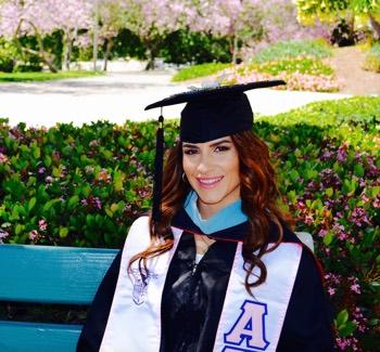 Photo: Diana Rosa Mesa on graduation day