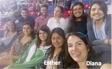 Photo: Diana Rosa Mesa, Esther, and friends at baseball game