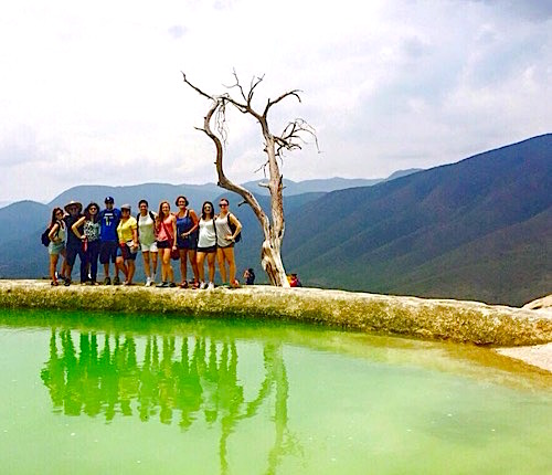 Photo: Group pose at green pond called Hierba del Agua
