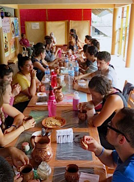 Photo: Immersion group communal meal