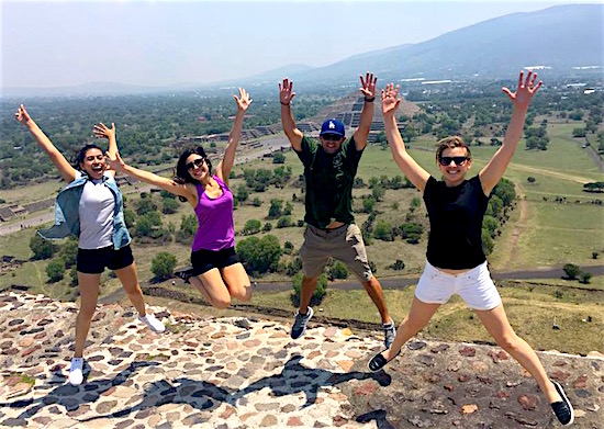 Photo: CLASS EL scholars jumping at ancient ruin site