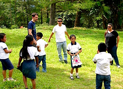 Photo: SDSU teacher scholars play outdoors with school kids
