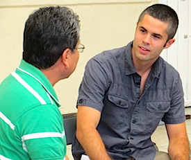 Photo: SDSU scholar and teacher in discussion