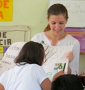 Photo: Teacher and student in classroom