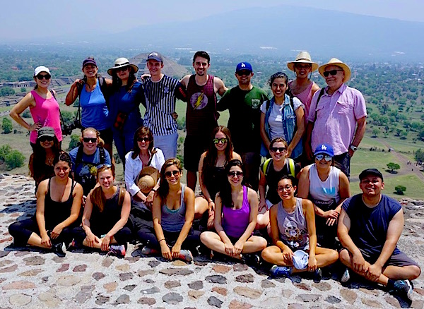 Photo: Group shot at Teotihuacan atop Temple of the Sun
