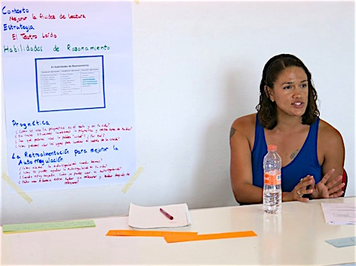 Photo: Class EL scholar with whiteboard