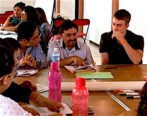 Photo: group discussion at teacher workshop