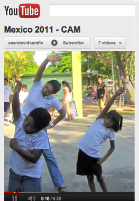 YouTube Mexico 2011-cam: adults and children on playground