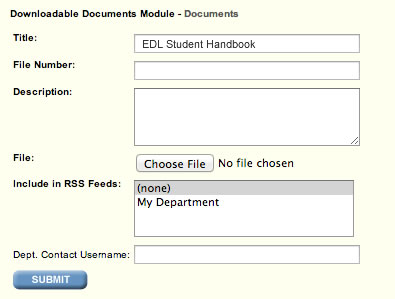 Upload Document Form