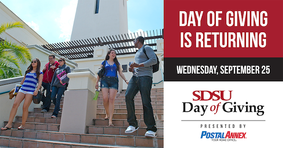 SDSU Day of Giving September 25