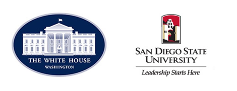 White House and SDSU Logos