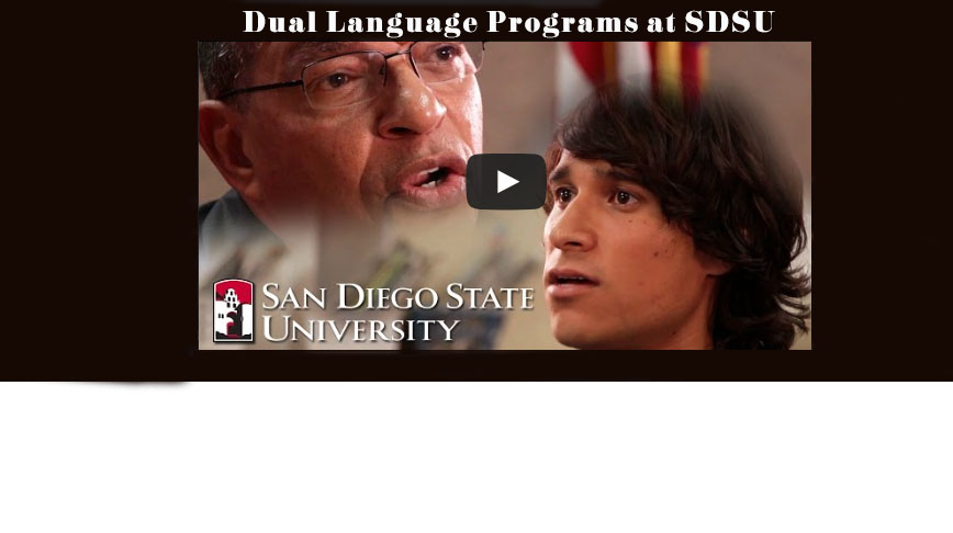 Video screen capture of Dual Language Programs at SDSU