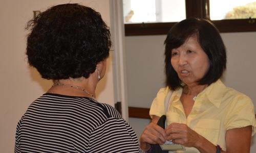 Dr. Rafaela M. Santa Cruz and Hiroko Takagi.
