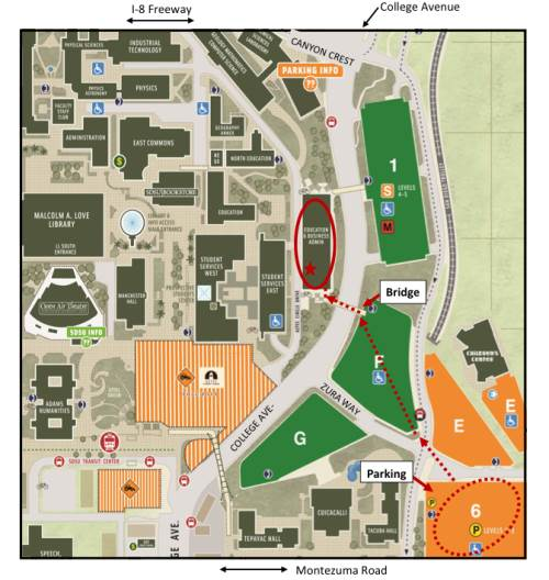 SDSU Map and Parking