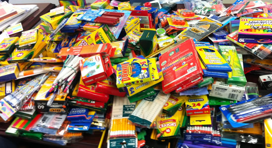 School supplies for the children we teach