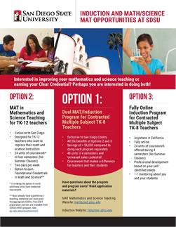 MAT Math and Science | SDSU