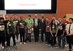 Dean Johnson, Frank Harris and Students