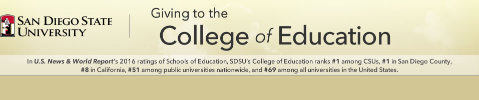 Giving to the College of Education