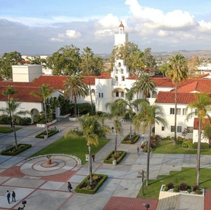 Photo: View of SDSU campus and Hardy Tower