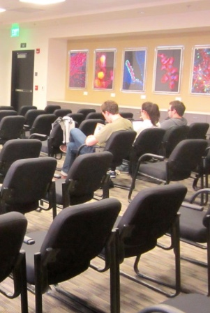 Photo: Several students seated in classroom