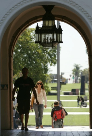 Photo: SDSU archway with students