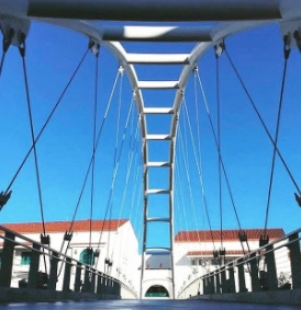 Photo: SDSU suspension bridge