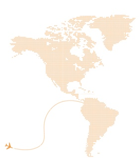 Image of world map and airplane