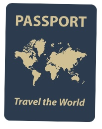 Image of passport with the words Travel the World