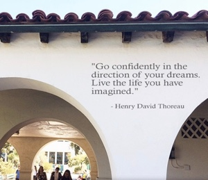 Photo: SDSU Wall with quote: