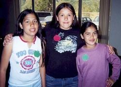 Photo: Three young girls