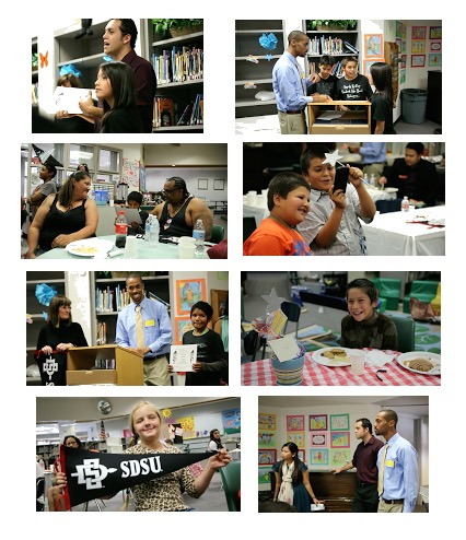 Photo collage: Images of students and children at Campo Reservation 2015 celebration
