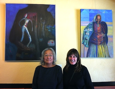 Photo: Carol Robinson-Zanartu poses with artist