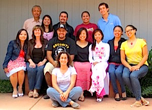 Photo: Mentors Carol and Larry with Marina Oliman, Diego Arias, Tiffany Haswood, Andrew Springsteen, Boa Xiong, Hugo Gonzalez, Roberta Cruz, Kieu Tang, Alyssa Ashley Jovianne Pereyra, and Michelle Ferrer