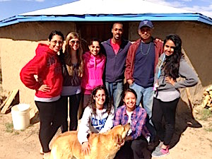 Photo: Laura Romo, Lauren Stanley, Cathia Sanchez, Jarrett Clifton, Larry Emerson, Leandra Ordorico, Michelle Ferrer, Alyssa Ashley at Shiprock 2014