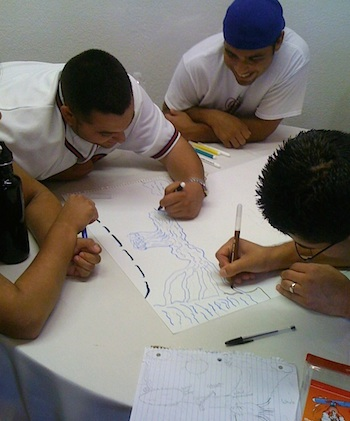 Photo: Group drawing project