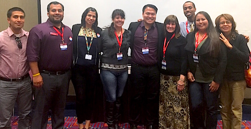 Photo: NAISC Scholars at National Indian Education Association, 2015, Portland