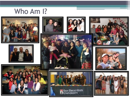 Photo collage of images from SDSU featuring groups of NAISC students posing together