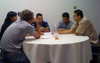 Photo: group at table
