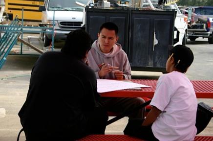 Photo: teaching outside